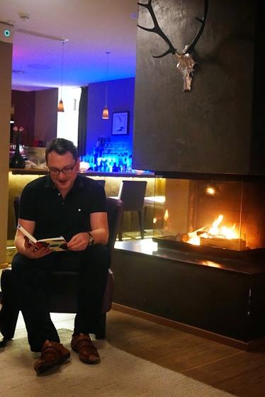"""Lesung im Hotel """"Das Kronthaler"""" in Österreich, November 2014."""
