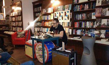 Lesung in der Buchhandlung Isarflimmern, März 2015.